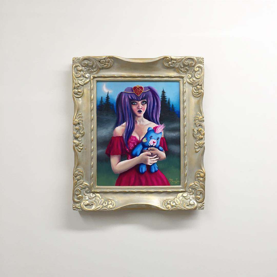 red princess framed oil painting hung up.jpg