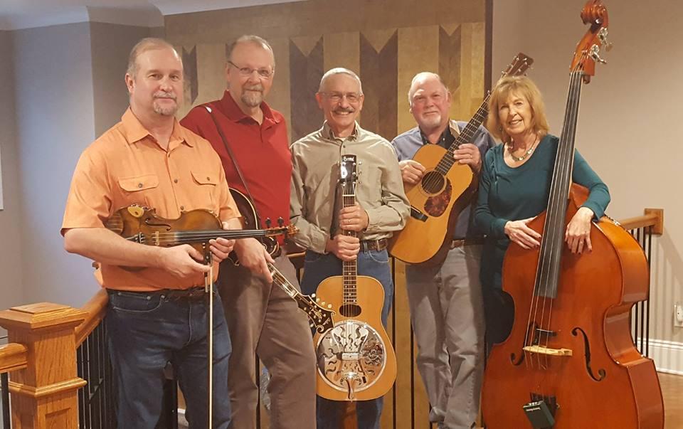 Joel Reagan, fiddle; Cheryl Gilbert, bass; Mark Gilbert, banjo/guitar; David Thier, dobro/guitar and John Young, mandolin/guitar