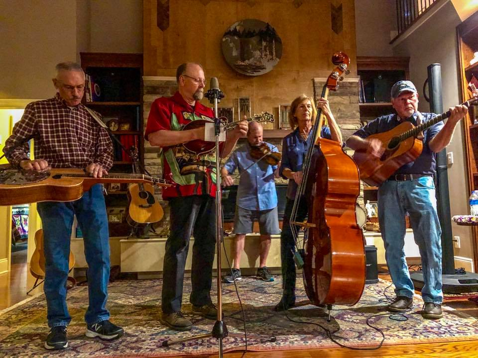 Blue Mullet is a Fairhope - based bluegrass band, steeped in traditional, contemporary and Gospel bluegrass.  Formed in 2018, it's members are: Joel  Reagan, fiddle; Cheryl Gilbert, bass; Mark Gilbert, banjo/guitar; David  Thier, dobro/guitar and John Young, mandolin/guitar.
