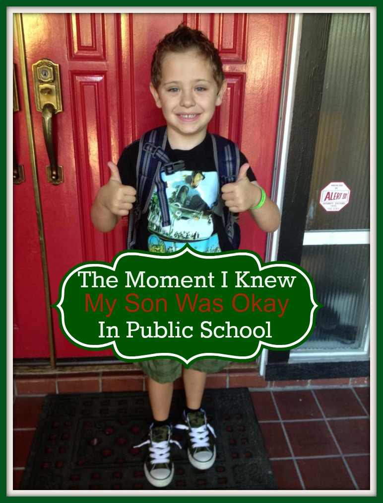 The Day I Knew My Son Was Okay In Public School