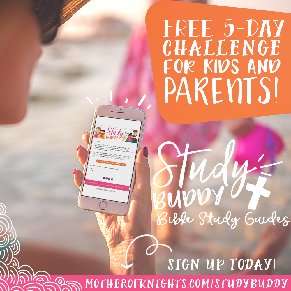 Sign up for the FREE Study Buddy Challenge and take our mini, five-day guide centered in Psalms for a test drive with your kids! | www.motherofknights.com/studybuddy