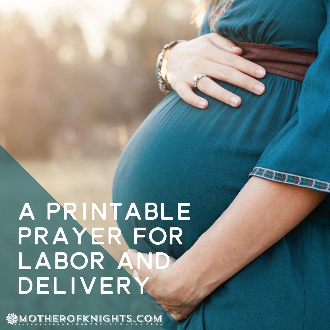 A Printable Prayer for Labor + Delivery