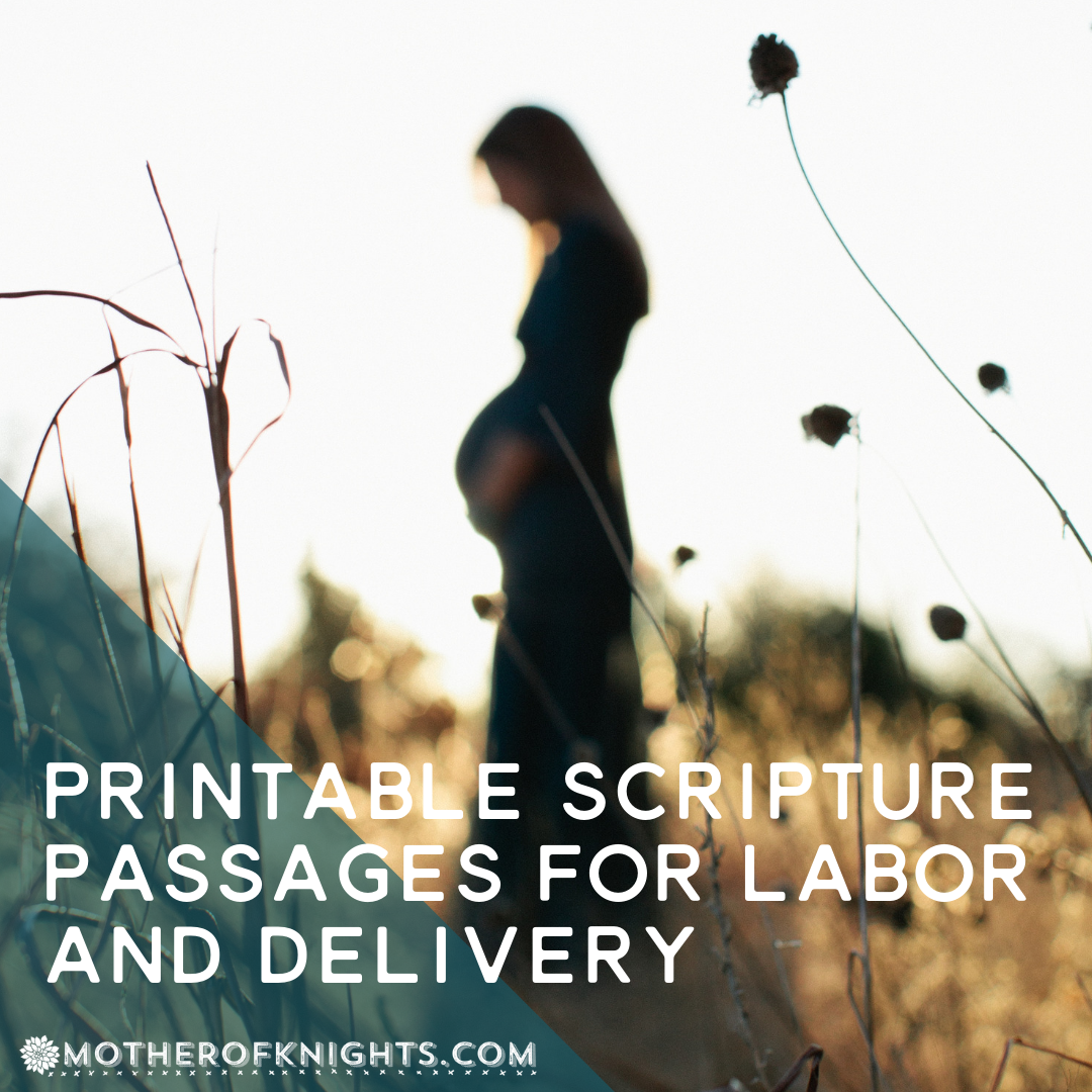 Printable Scripture Passages for Labor and Delivery