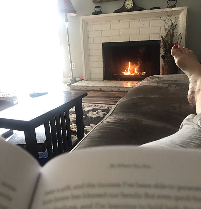 """This is what I asked for on Mother's Day. 20 minutes of silence. Morning coffee. An inviting fire. A good book. Truth be told, I haven't finished one page of my chapter, ironically titled, """"Be Where You Are"""". As I attempt to read @emilypfreeman's encouragement to be fully present and live in the moment, embracing reality, I'm being interrupted perpetually. There is complaining, loud musical toddler toys, and even two brothers arguing. This is my reality. My sweet husband is trying valiantly to honor my simple request but the fact of the matter is that motherhood is rarely simple. Seldom quiet. Intermittently peace-filled. Holidays—Mother's Days—are not days where reality becomes paradise. That's reserved for another eternal day. The choice then, is mine. I'm choosing not to rankle. I'm looking my reality of motherhood square in the eye and....winking. Smiling. Feeling grateful for my loud, sometimes insensitive and immature band of boys, because the reality is that I wouldn't have it any other way. #mothersday #love #gift #joy #motherhood"""