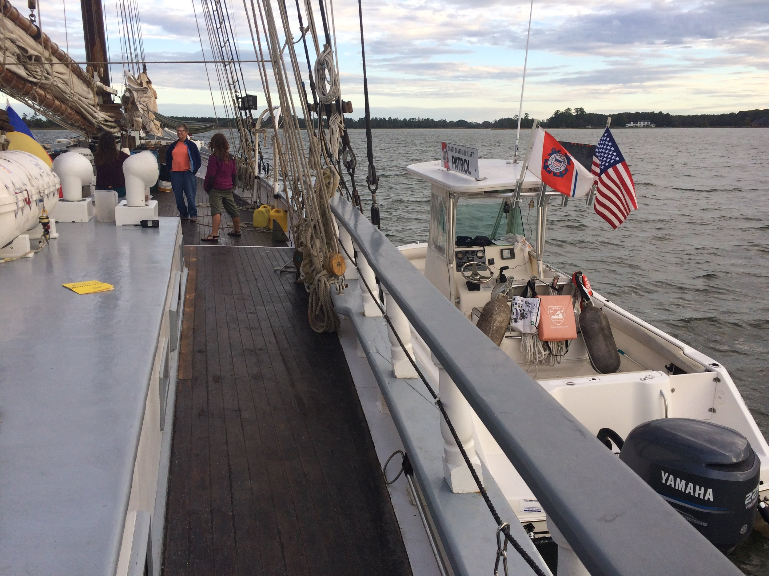 The Coast Guard Auxiliary tied up to the  Gamage