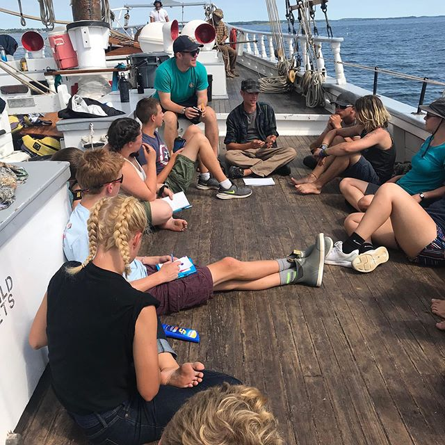 Can't beat #oceanography and #navigation lessons on the deck of a #tallship!