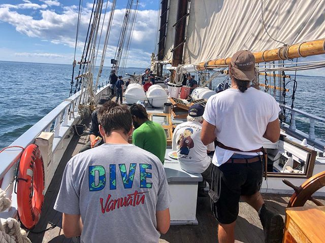 """In early September, we did a weekend trip with local @usnavalseacadetcorps cadets. There was ample wind and rain the first day, but, as the African Proverb says, """"Smooth seas do not make skillful sailors."""" 📸: @seashorewrite"""