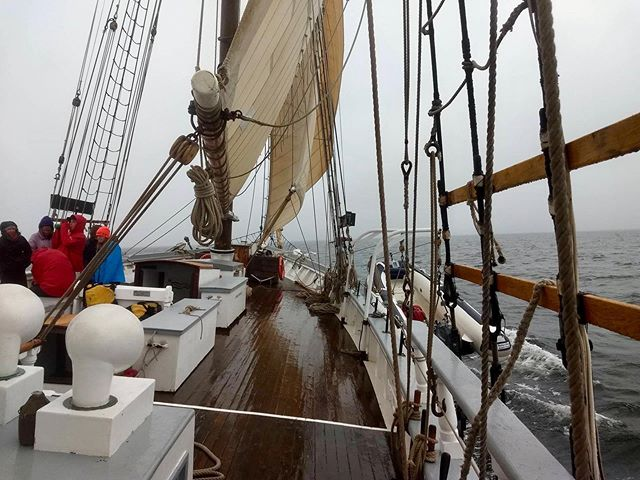Spending the week with students from Vinalhaven High School! #masteringbowlinecuffs #tallships #sailing #penobscotbay