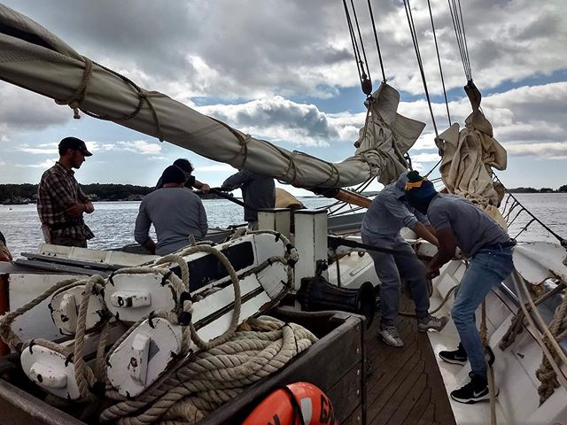 Grateful.  As we reflect on our 2019 season, that's the word we keep coming back to. It has been an exhilarating and exhausting season. Our students have challenged themselves, pushed their boundaries, and trusted us to guide them through the process of living and learning on a #tallship. This is not something we take lightly. We're thankful to have met many new faces this year and encouraged to recognize others from the past. It reminds us that this work is important, and it's why we'll continue #sailtraining for future generations.