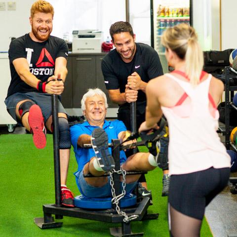 fun group training gym class