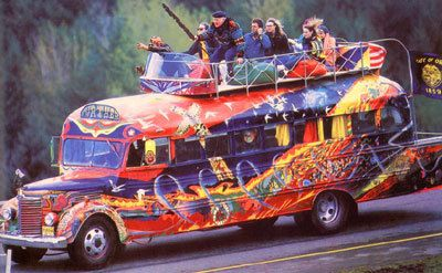 Ken Kesey's Magic Bus 'Further'. These guys were for sure drinking the Kool Aid. Known as the 'Merry Pranksters'.