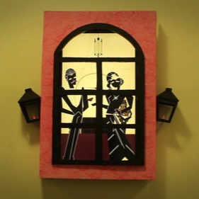 Window Façade - Concept, construction, and animation for a themed window façade.