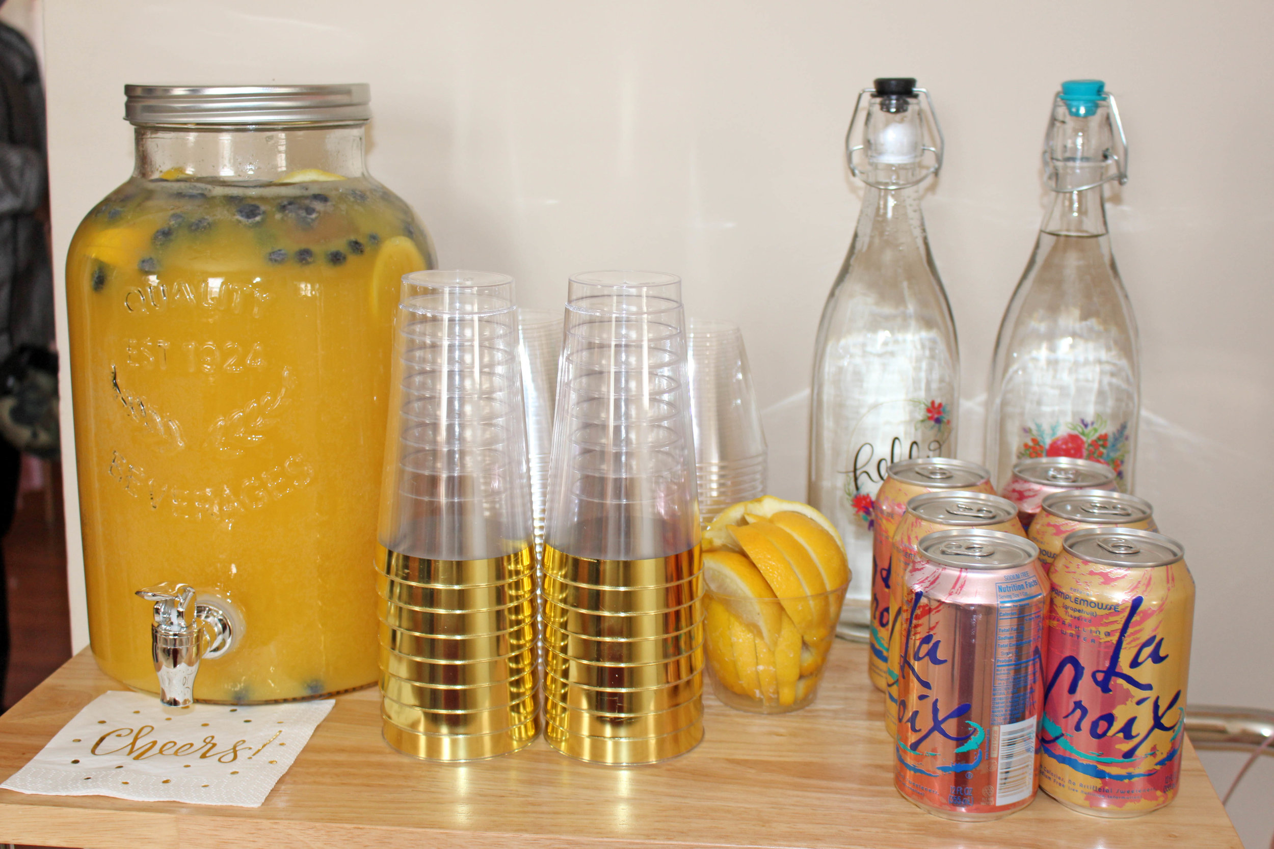 party beverage station | Pish Posh Perfect