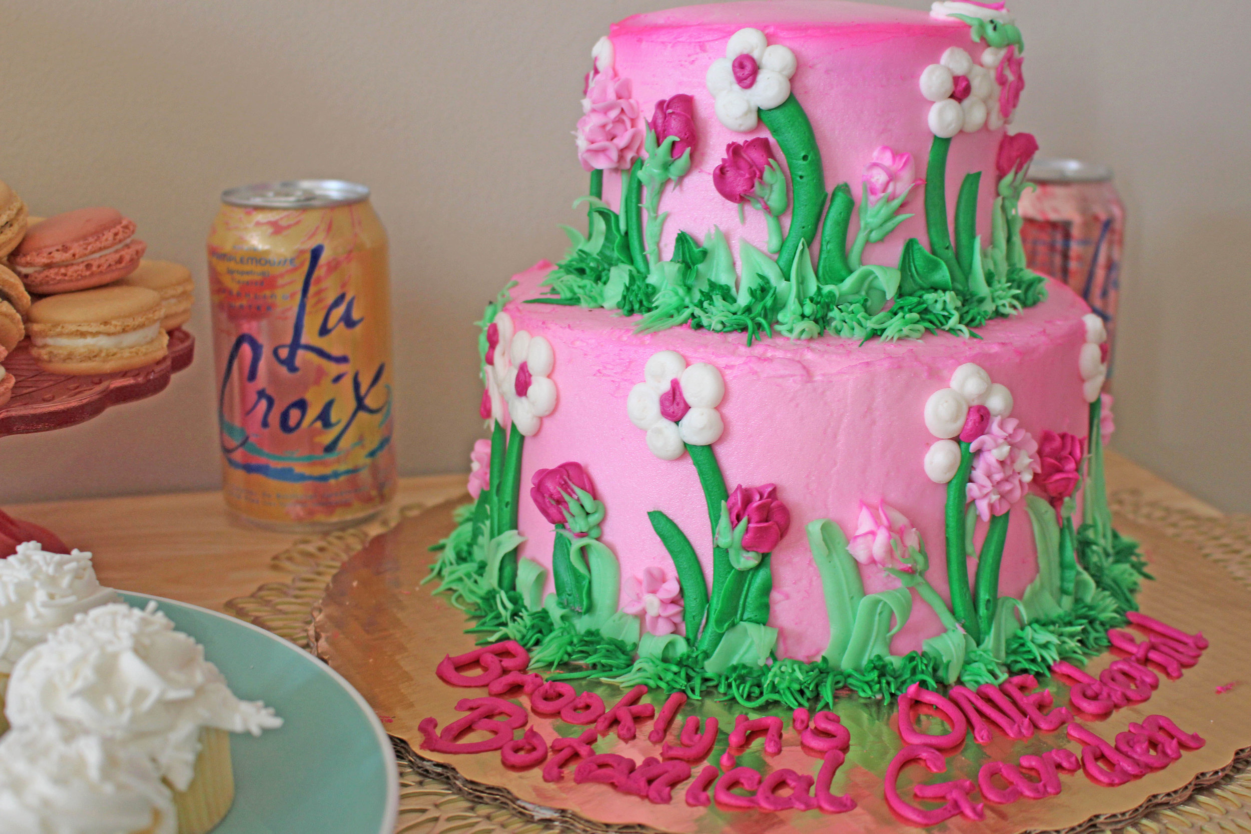 floral themed birthday cake | Pish Posh Perfect