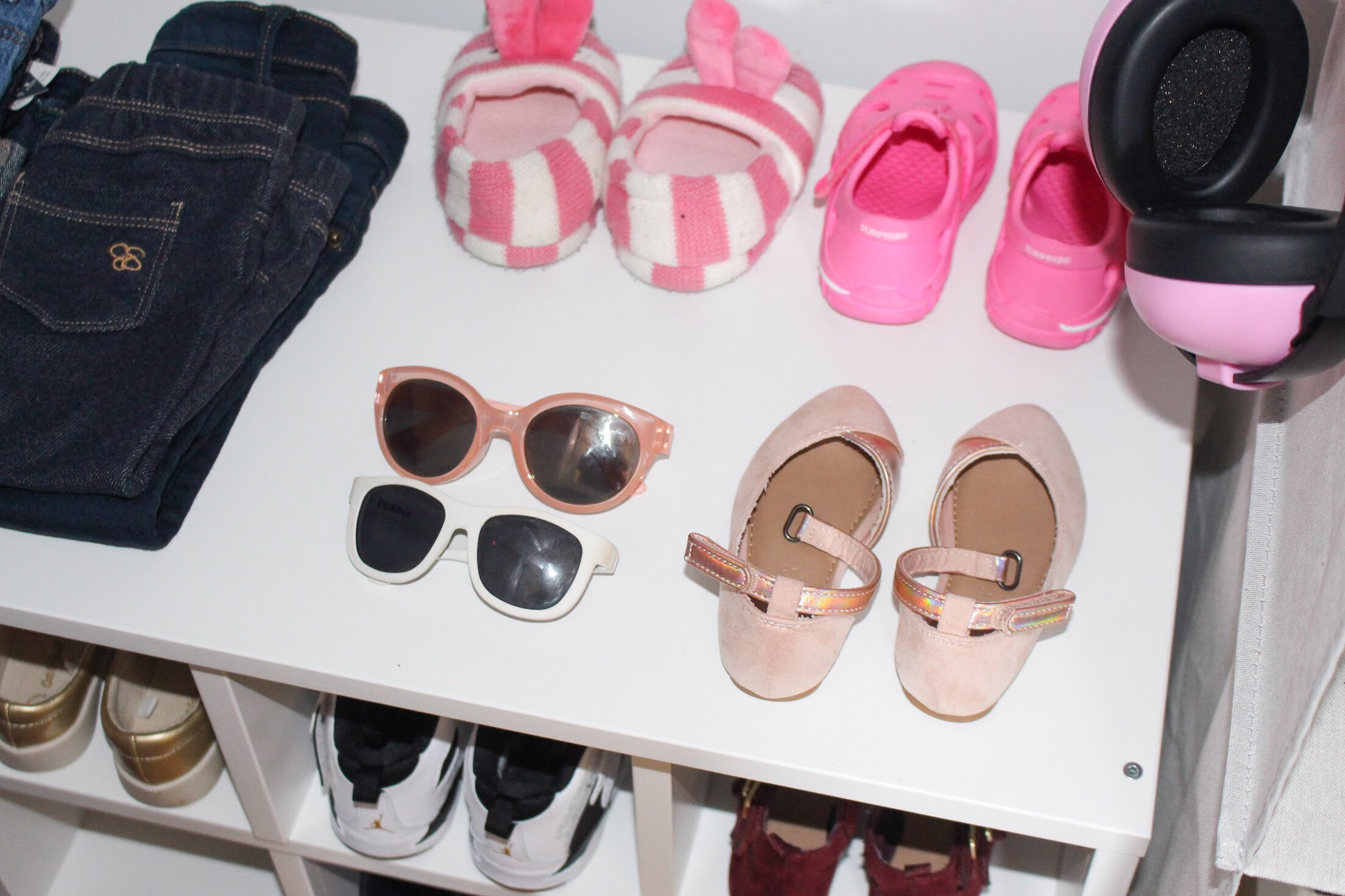 Toddler Closet Organization - Shoes | Pish Posh Perfect