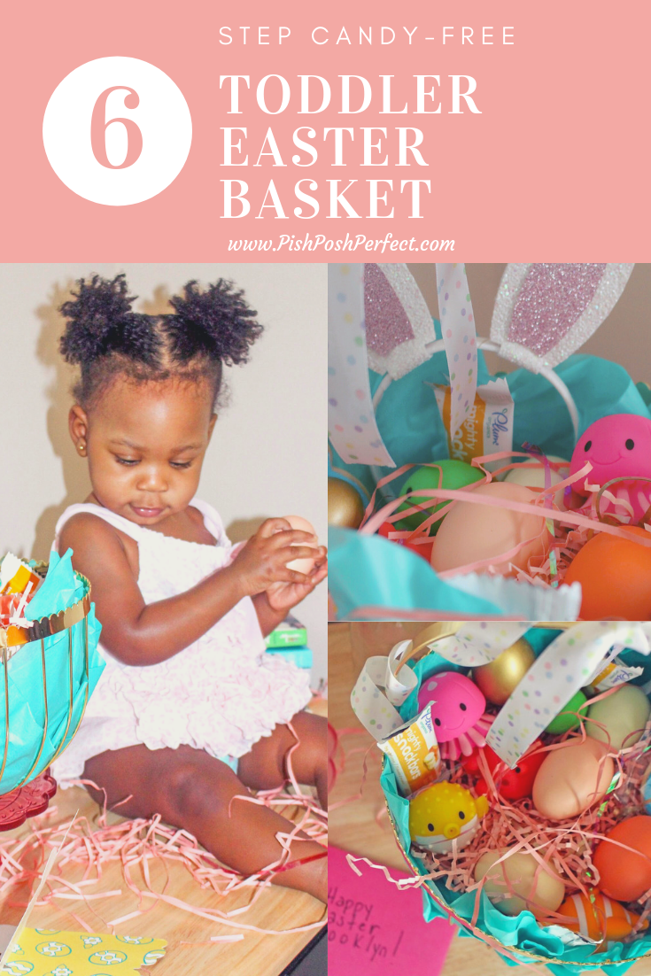 6 Step Candy -Free Toddler Easter Basket | Pish Posh Perfect