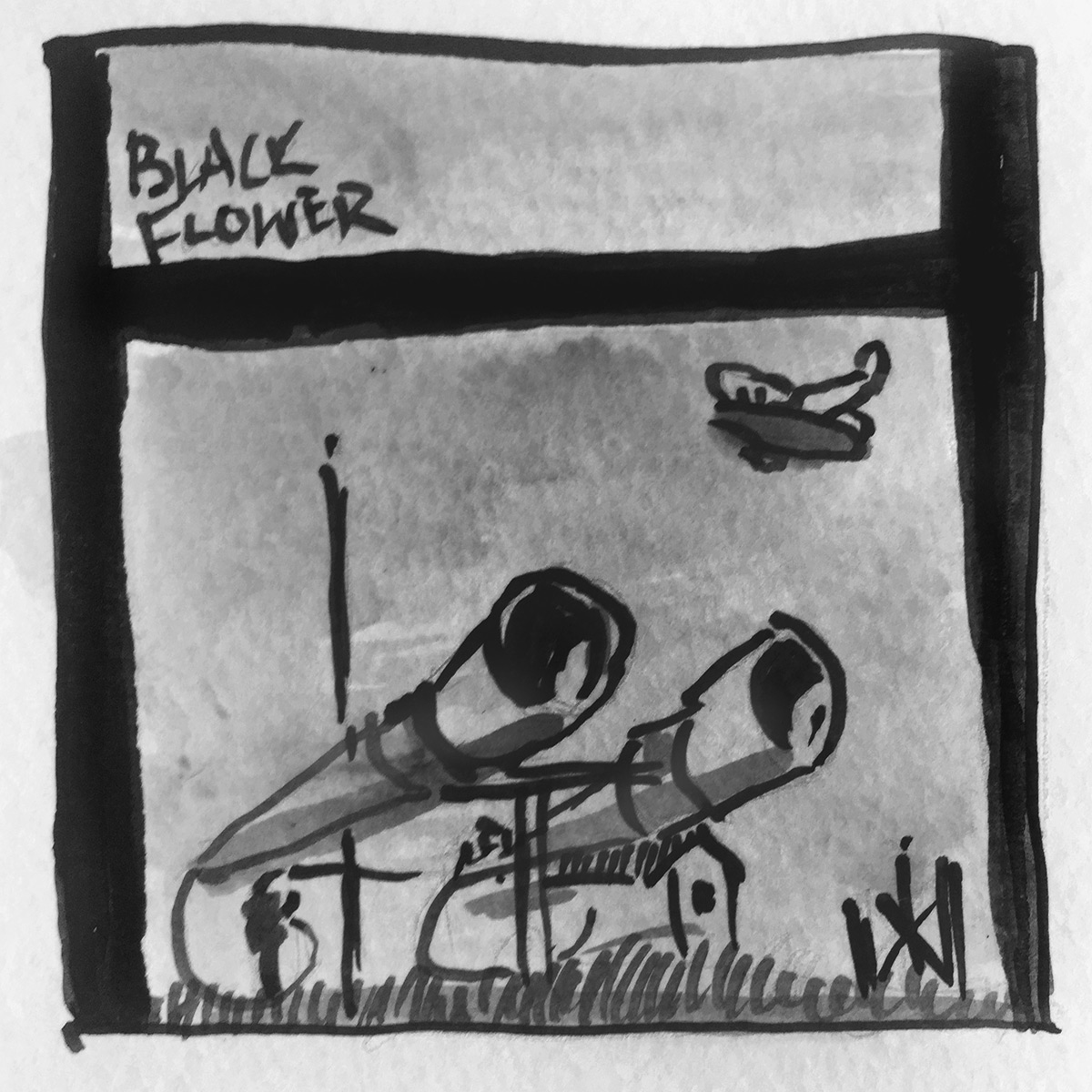 Black Flower Ghost Radio