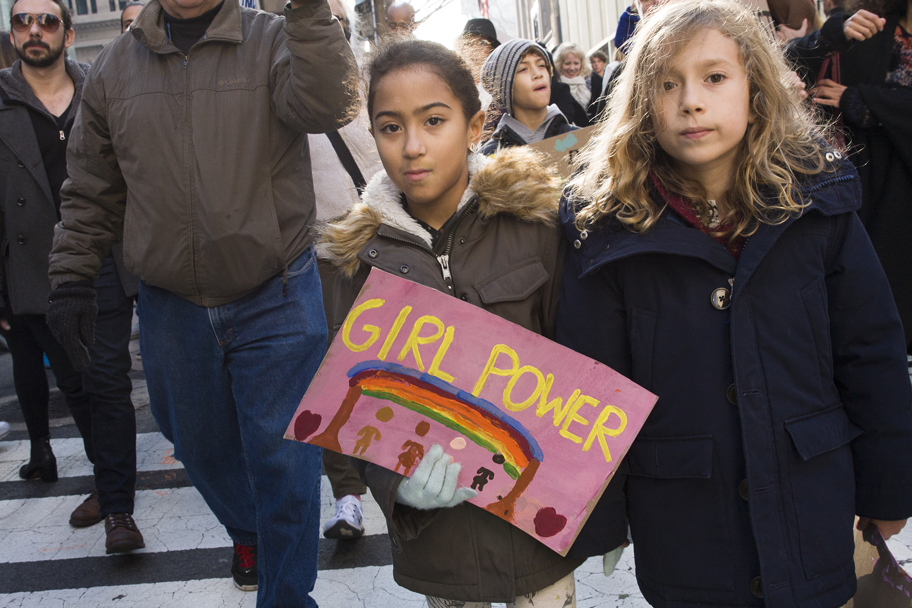 """""""Girl Power""""  The Women's March, New York City, January 21, 2017"""