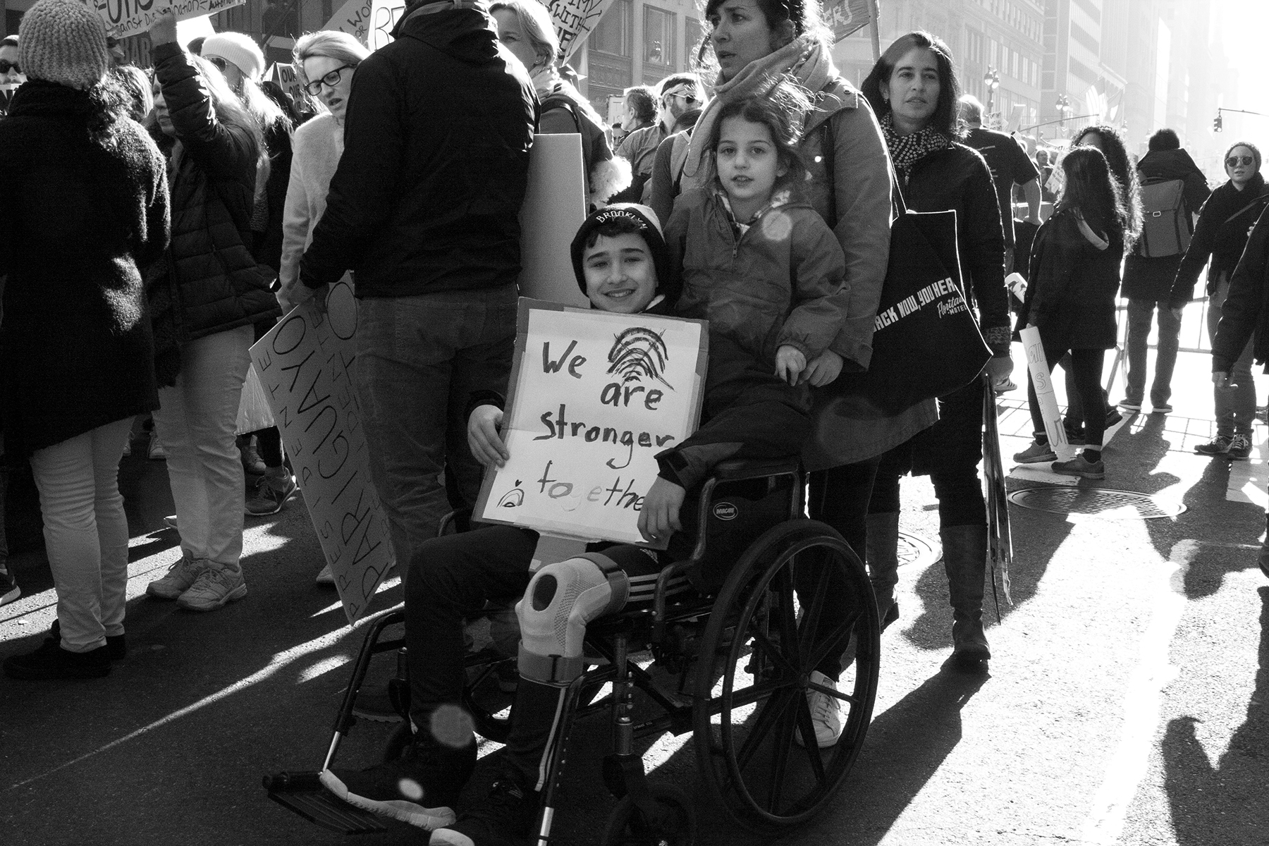 """""""We Are Stronger Together""""  The Women's March, New York City, January 21, 2017"""