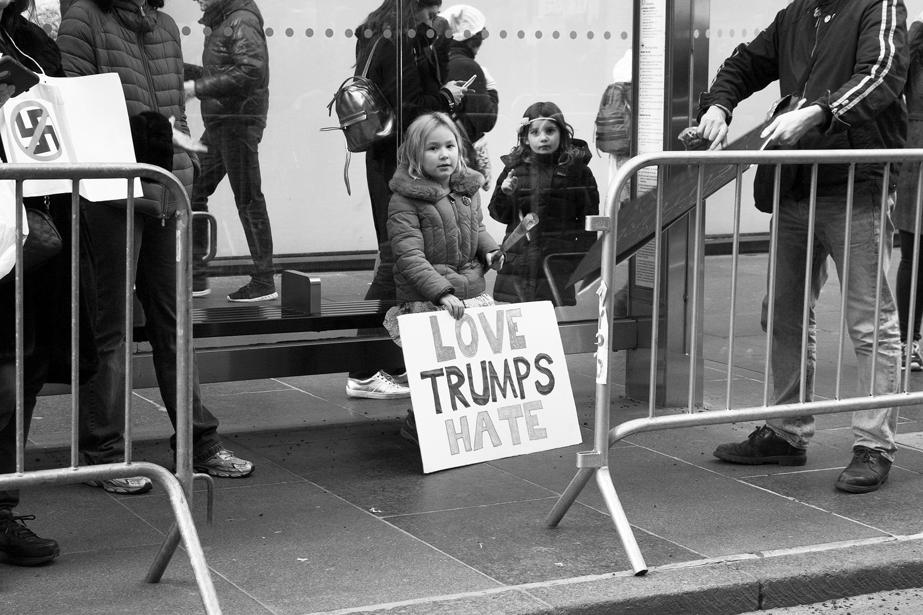 """""""Love Trumps Hate""""  The Women's March, New York City, January 21, 2017"""