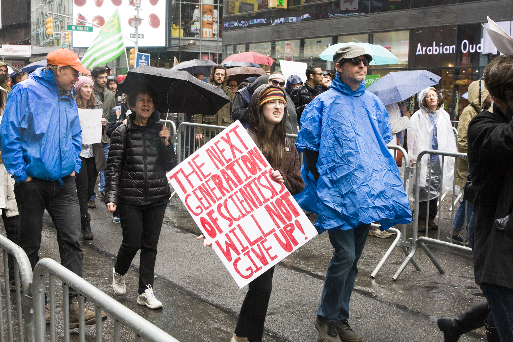 """""""The Next Generation of Scientists Will Not Give Up""""  The March for Science, New York City, April 22, 2017"""