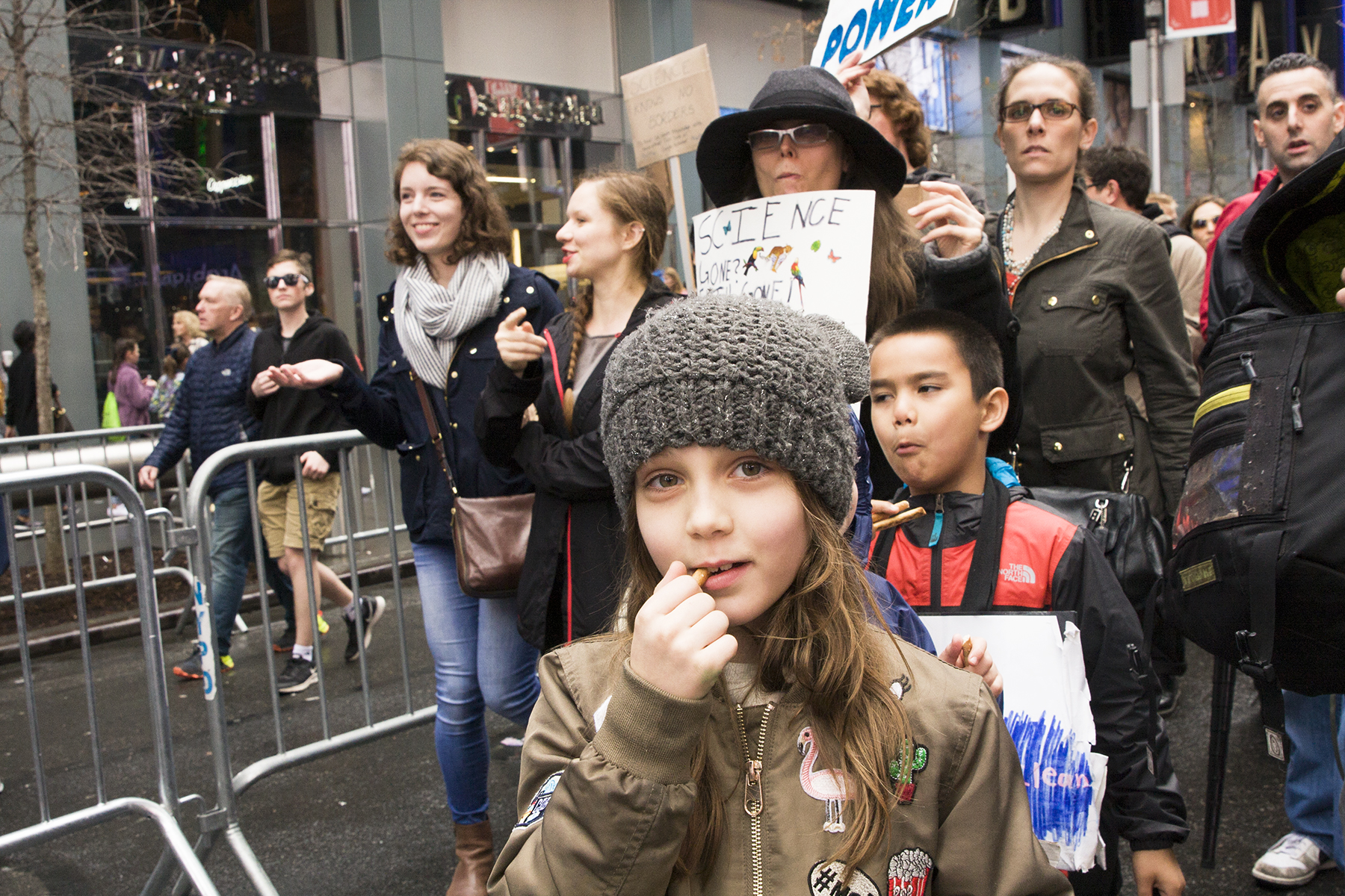 Snacktime.  The March for Science, New York City, April 22, 2017