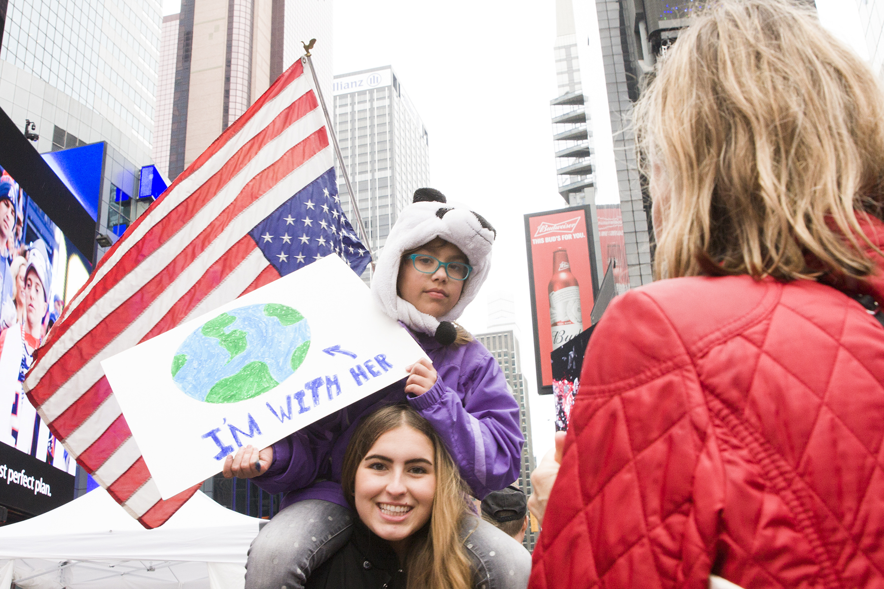 """""""I'm with Her""""  The March for Science, New York City, April 22, 2017"""