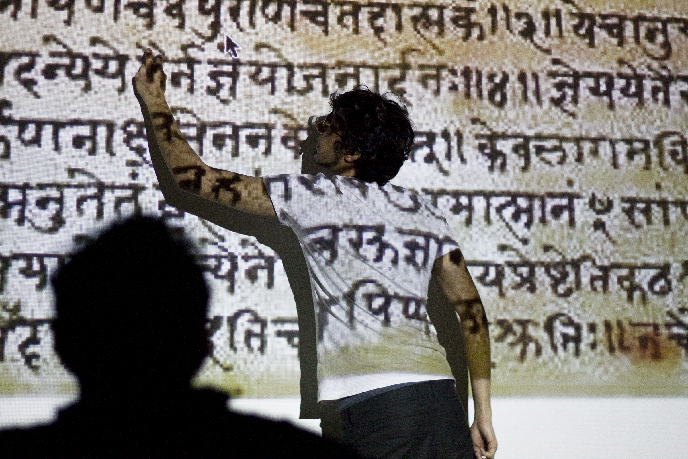 Rishabh discusses details of his source language material, in this case Sanskrit, used in a project he is presenting at TypeThursday March, 2016.