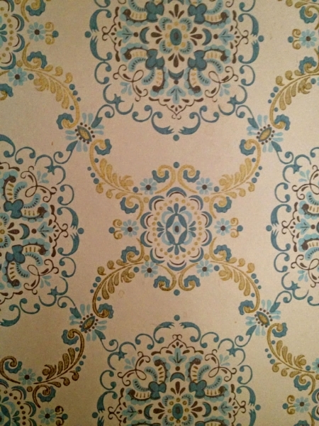 Vintage wallpaper from a home in Redwood Heights, likely circa 1940's