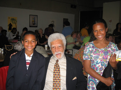 Photo of my kids with Oakland Mayor Ron Dellums