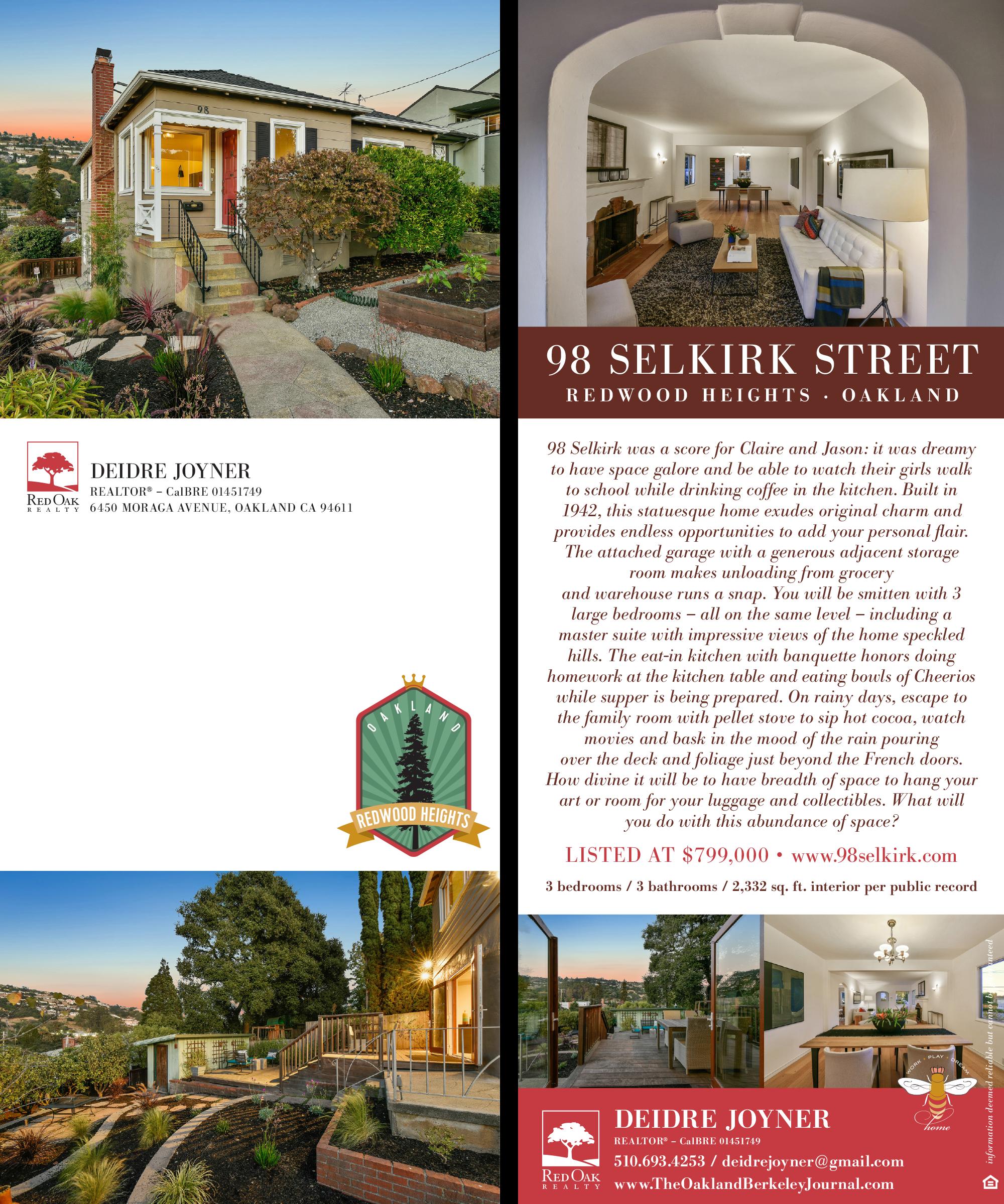 98 Selkirk Street, Oakland