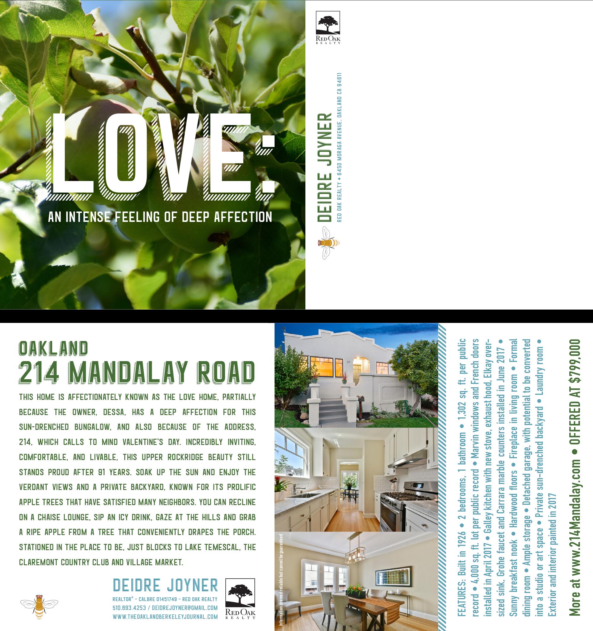 214 Mandalay Road, Oakland