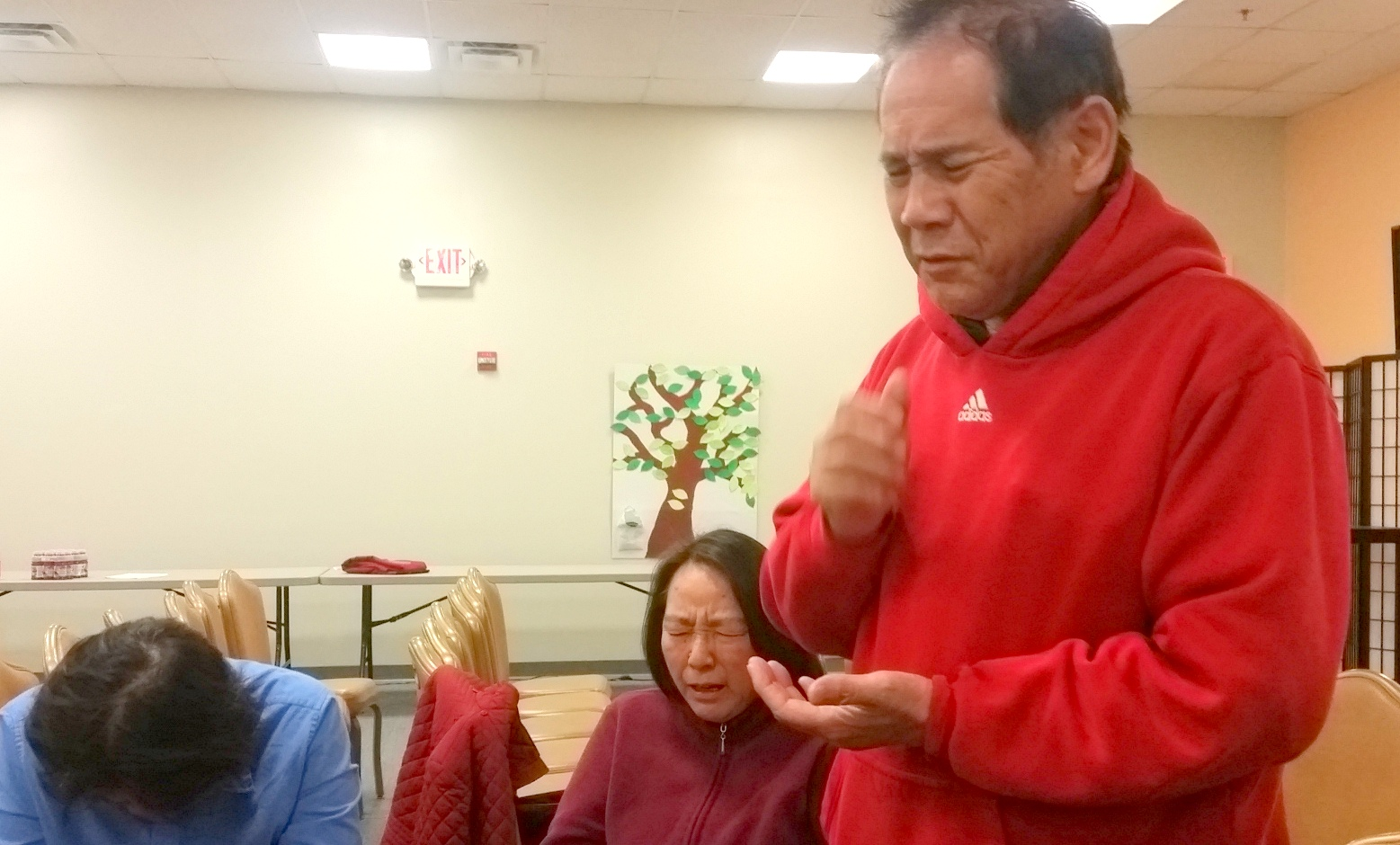 District Kodan Leader Mike Tsurusaki keeping us totally into it, on track and prayed up.