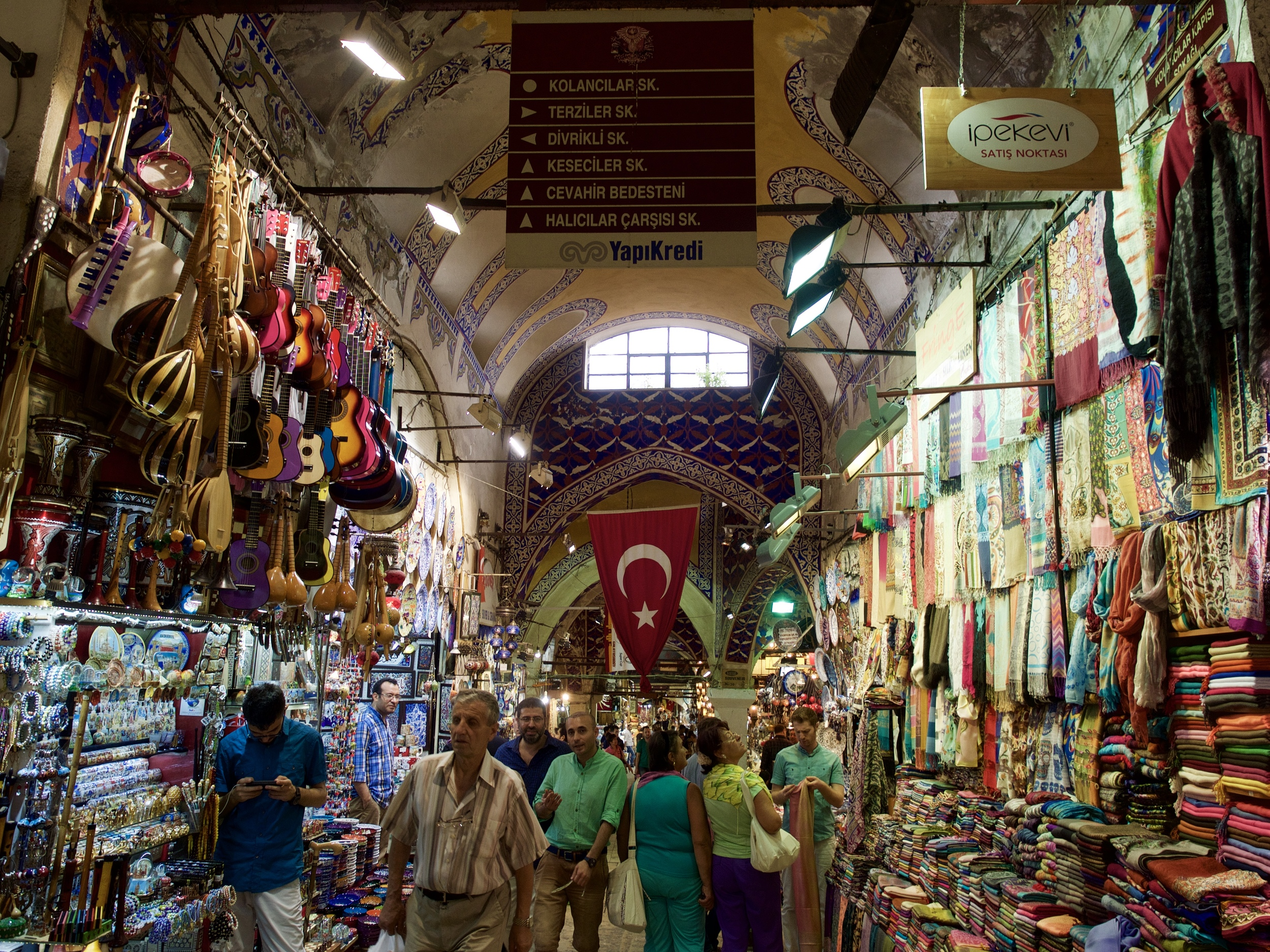 Getting totally lost inside the Grand Bazaar.