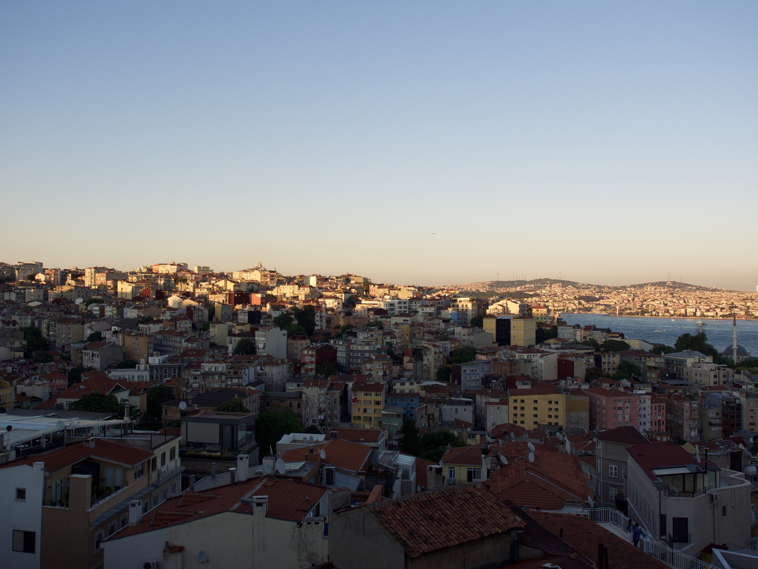 Looking over the Bosphorus from the roof of Lebiderya.