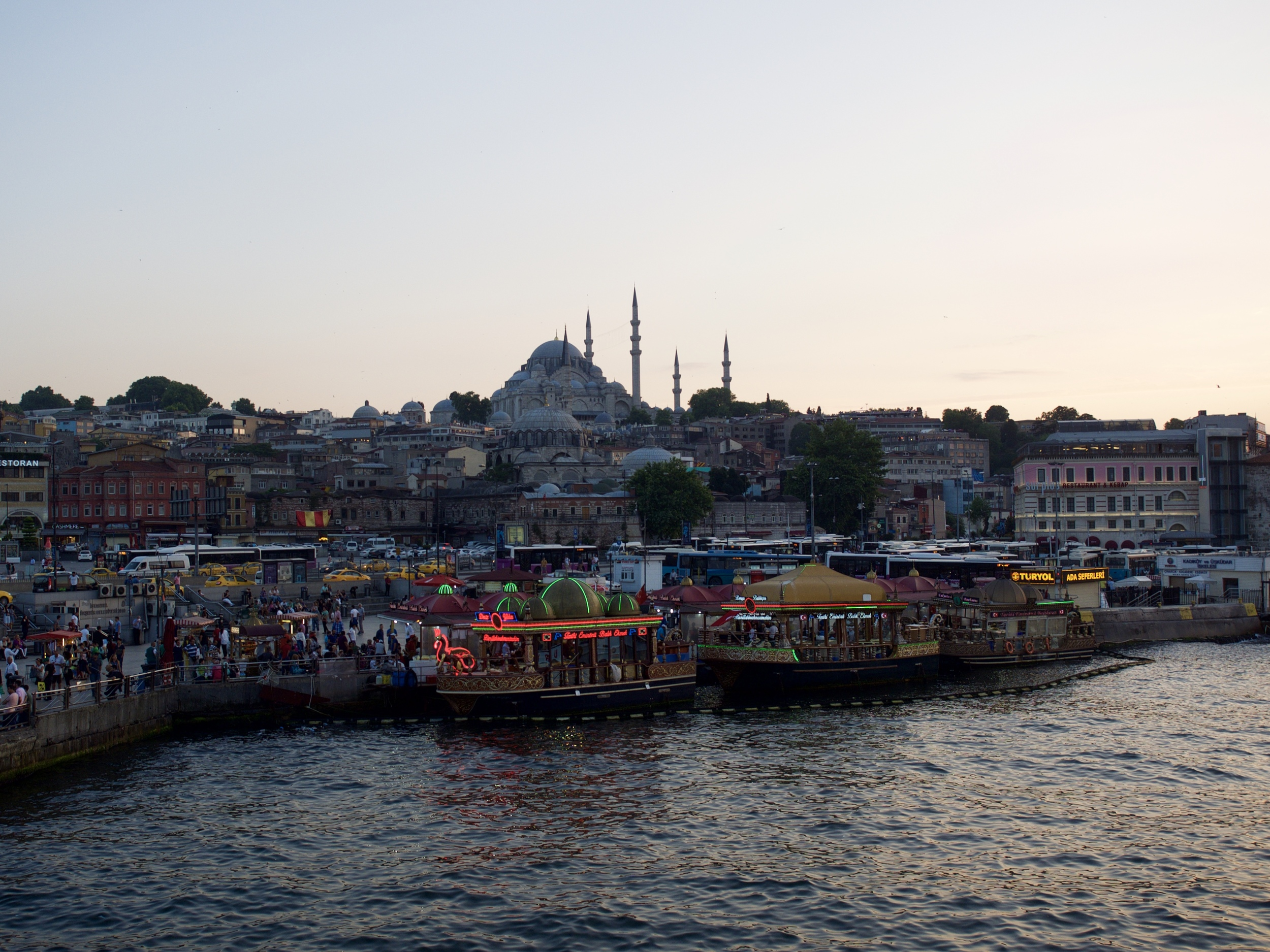 Views from the Galata Bridge.