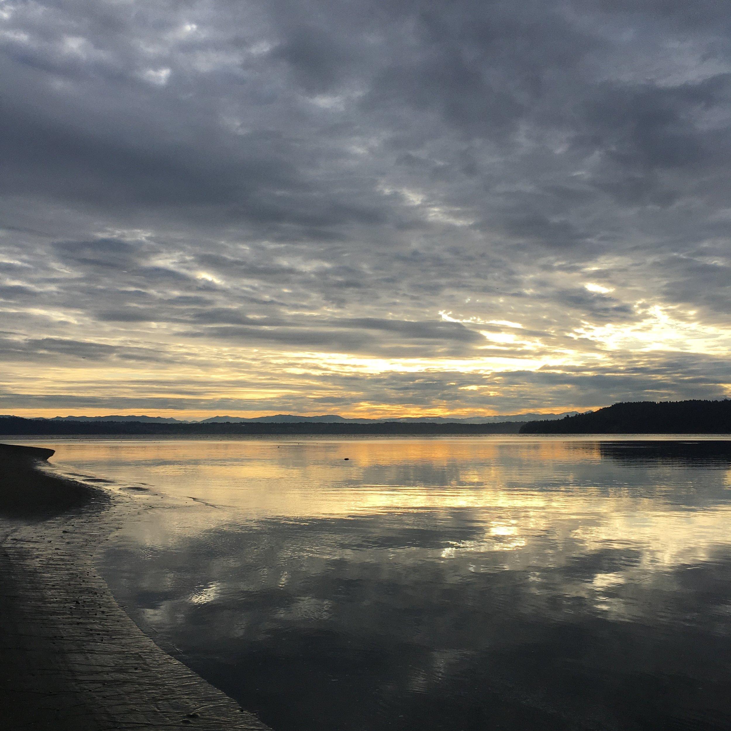 KVI beach at sunrise