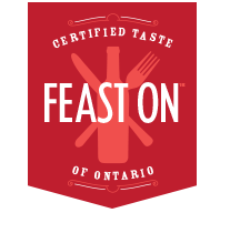 - Supporting local farmers and producers not only helps build our local food identity, it also boosts the economy and limits environmental impact. Feast ON is a certification program that recognizes businesses committed to sourcing Ontario grown and made food and drink.