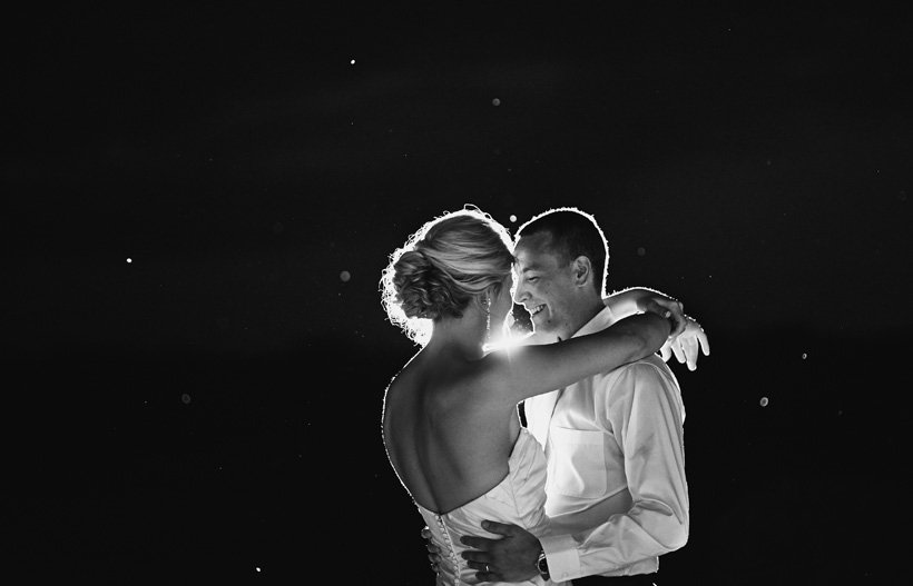 Alli and Cody share a first dance in the dark