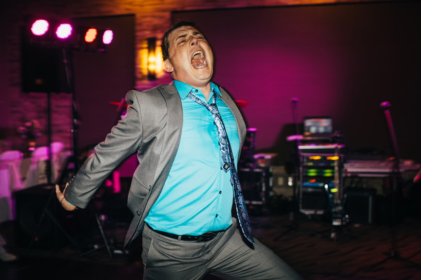 The bride's cousin does Michael Jackson's famous scream while performing Thriller