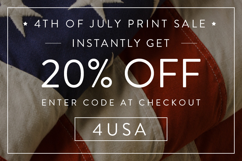 4th of July Print Sale - 20% off all prints from July 1st through July 4th