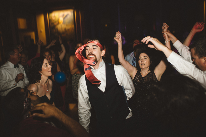 The groom acts as a catalyst driving everyone to the dance floor | Des Moines Wedding World Food Prize Hall of Laureates