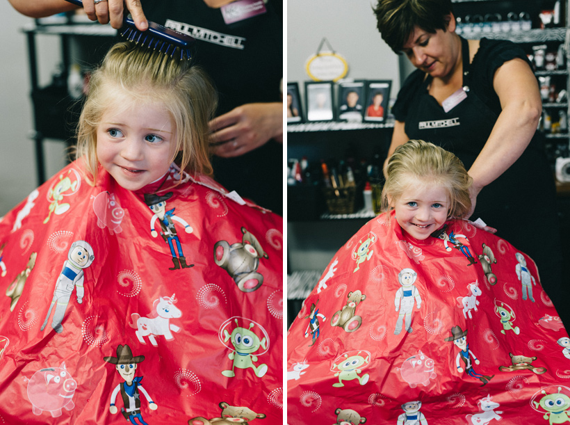 sophie's first haircut