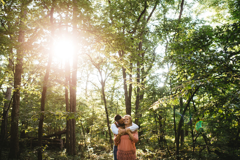 Michele and Cole's Engagement Session at Ledges State Park