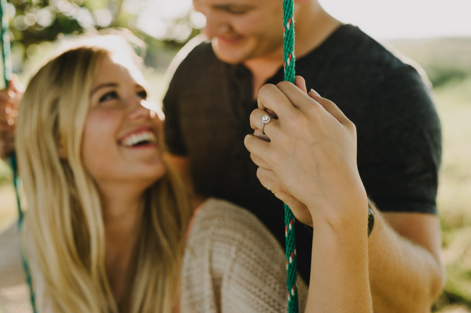 Allison and Dakota Panora Iowa Engagement | Brian Davis
