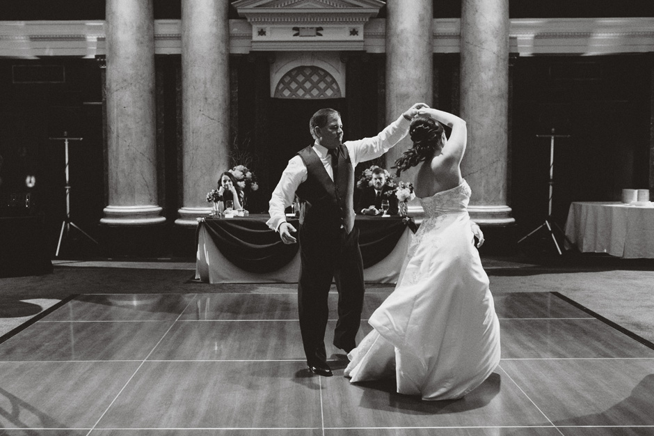 Anna and Bill perform a ballroom dancing routine at their Temple for Performing Arts reception