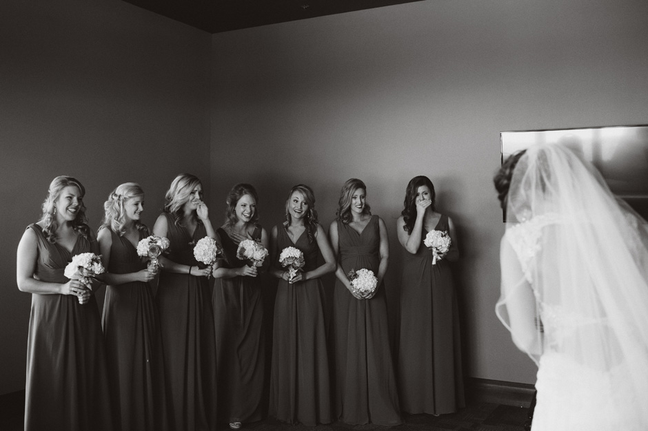 A special reveal for the bridesmaids renders them speechless
