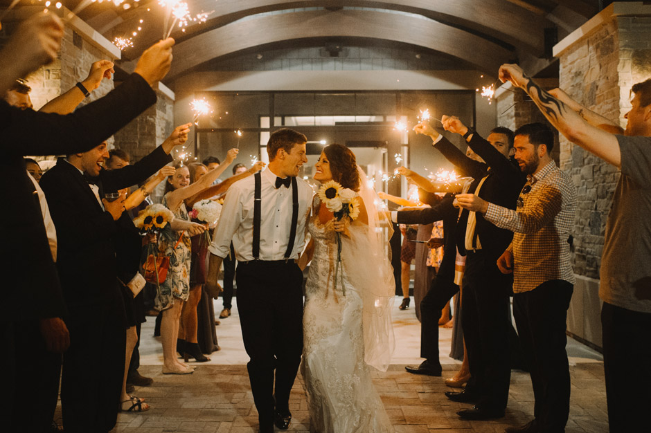 Blake and Justin have a sparkler exit from their reception only to realize their getaway caddy isn't working