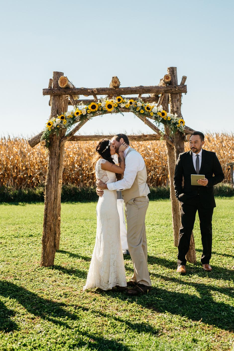 Ashley and Chad Maquoketa Iowa Wedding