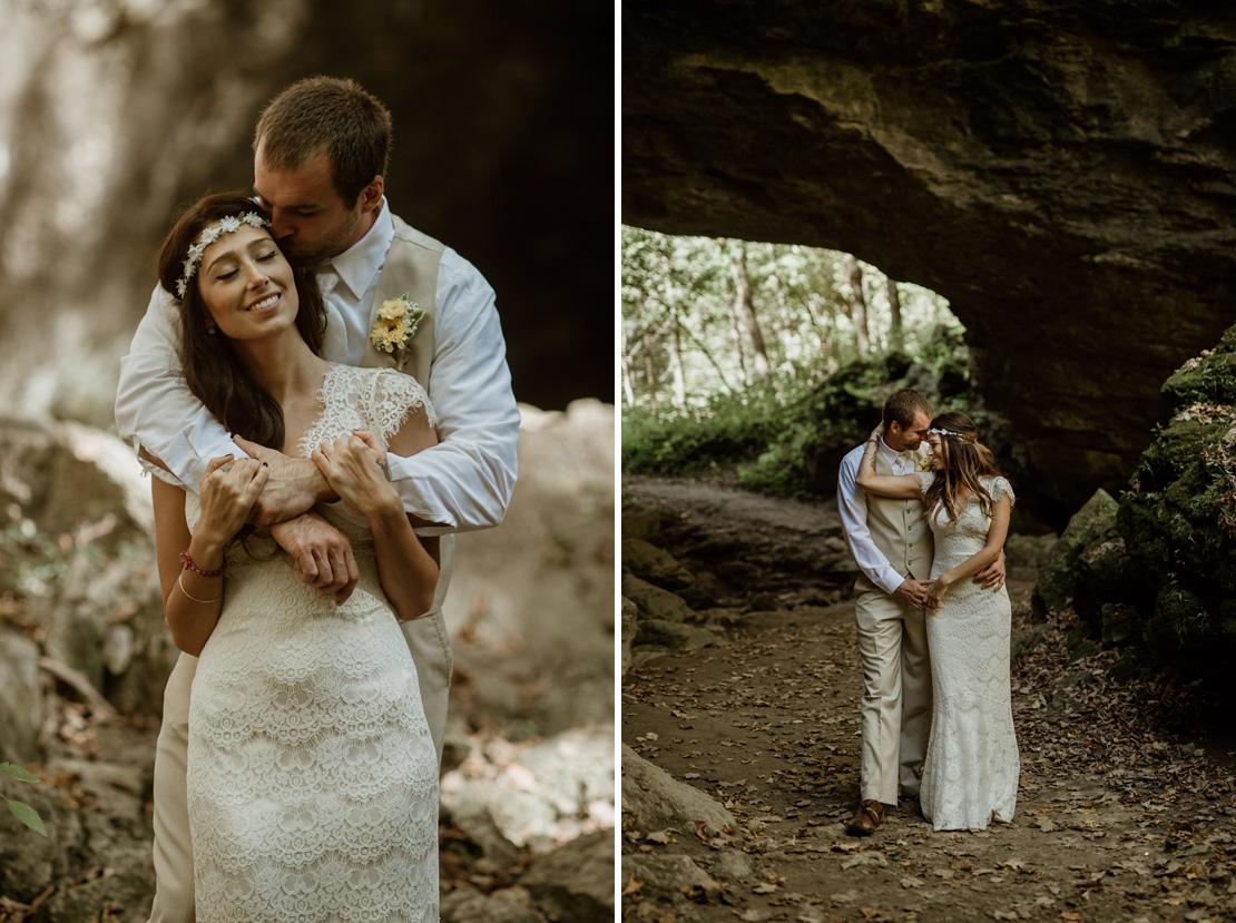 Ashley and Chad's Cave Portraits - Brian Davis Iowa Wedding Phot